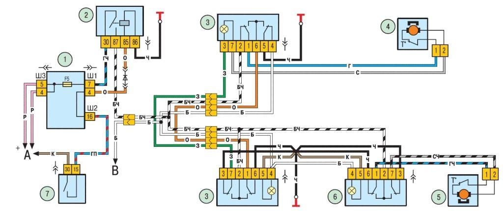 Схема подключения ЭСП ВАЗ 2114