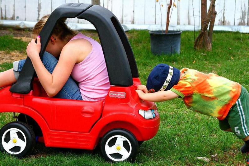 Завести машину с толкача